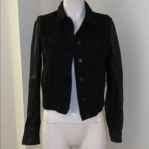 Rag and Bone Black Denim and leather Jacket